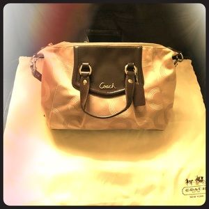 Coach satchel bag-Ashley Dotted Op Art Signature